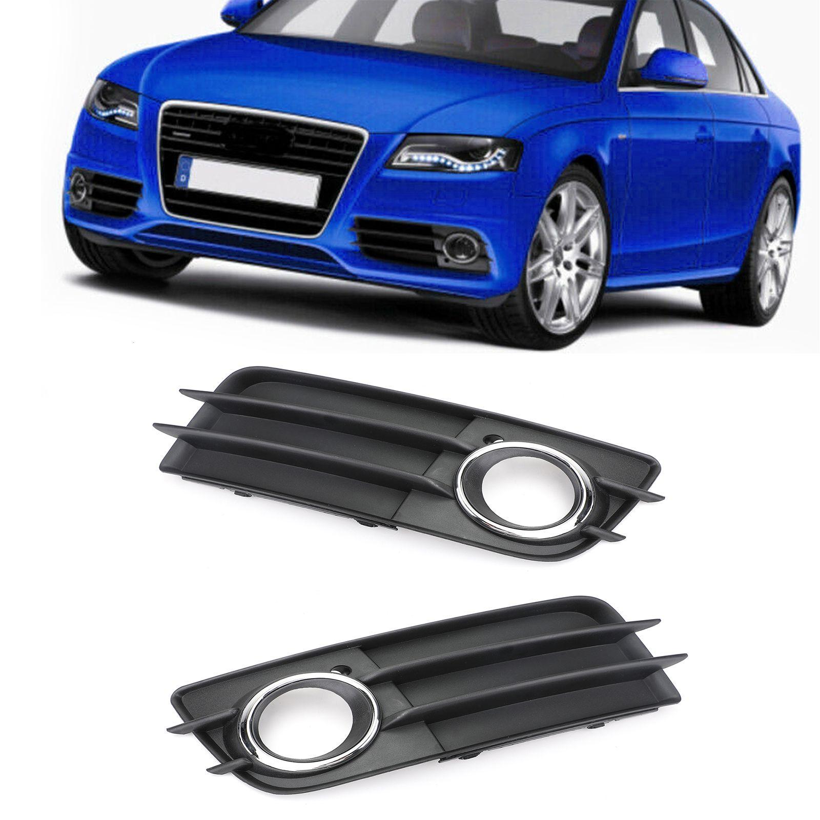 Areyourshop Auto links / rechts Nebelscheinwerfer Grill Chrom-Ring Auto gepasst für Audi A4 S-LINE S4 2008-2012 Auto Auto Zubehör Teile
