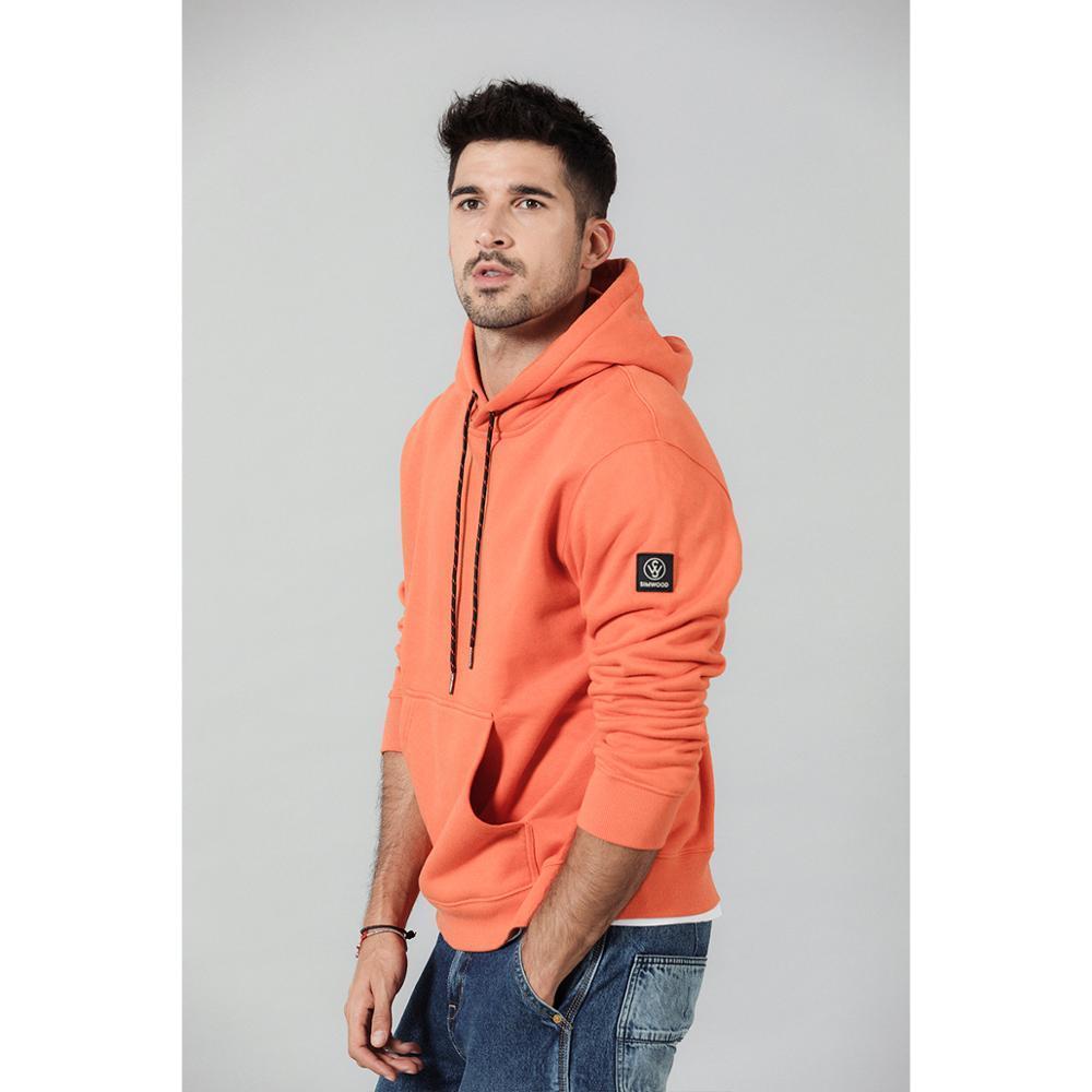 SIMWOOD Moda Hoodies Men Fleece Casual cor sólida com capuz Streetwear espessura quente corredor Moletons Plus Size SI980711 CX200723