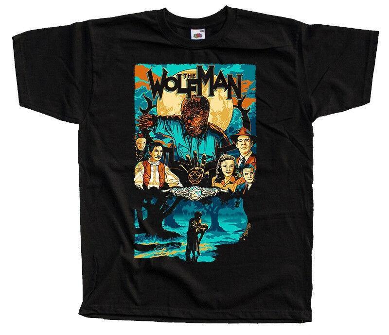 L'uomo lupo Poster 1941 T-shirt nera Tutte le dimensioni S-5XL