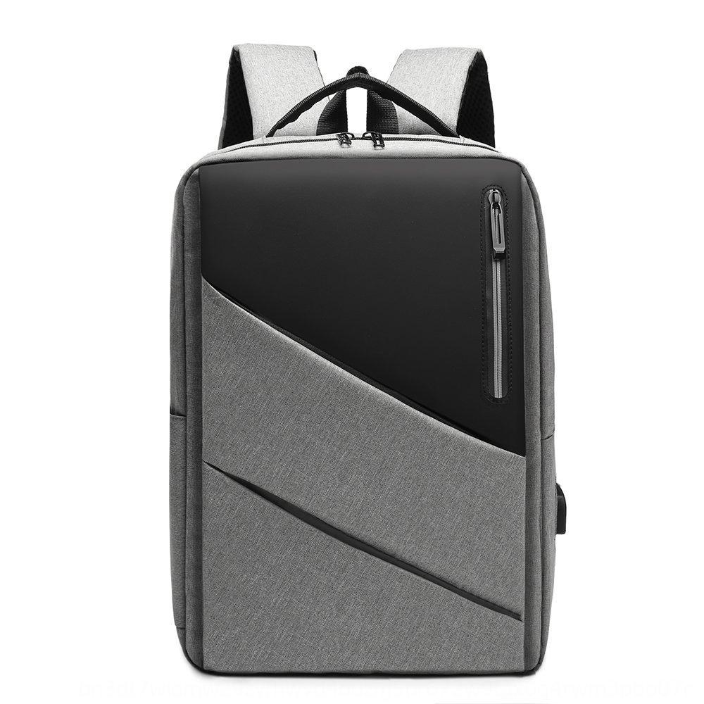 New business backpack computer Bag men's simple usb charging large capacity backpack leisure computer bag