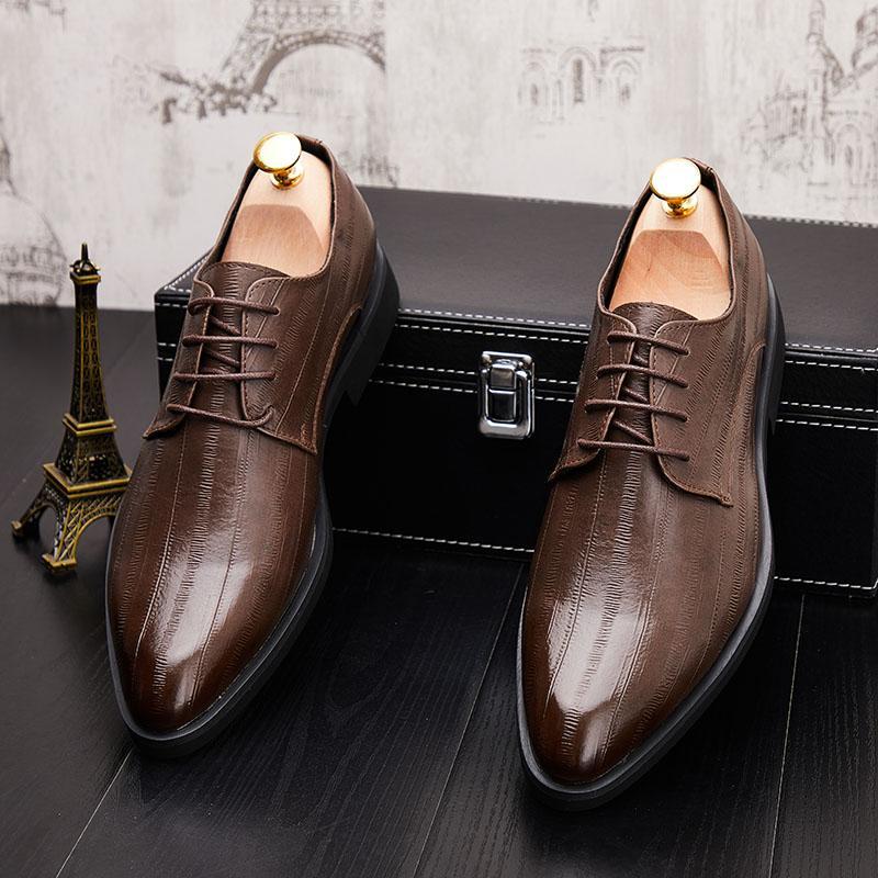 nouvelles chaussures en cuir de cérémonie hommes d'arrivée chaussures pour hommes en cuir noir rouge d'affaires Oxfords Robe Chaussures mocassins homme chaussure