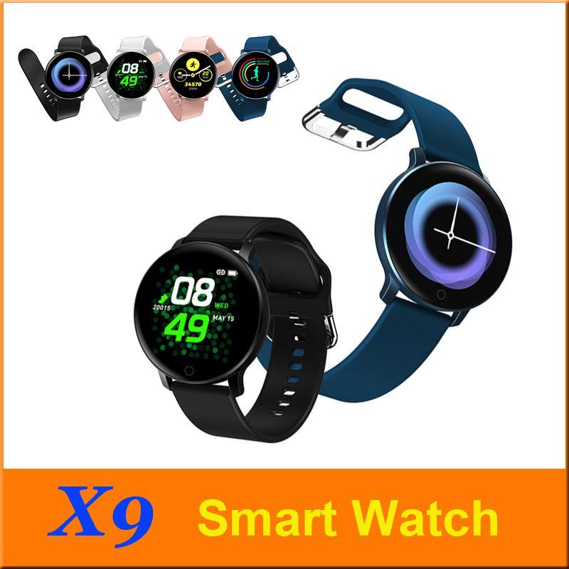 X9 intelligente Montre-bracelet moniteur de fréquence cardiaque Pression artérielle d'appel Rappel Fitness Tracker étanche intelligent Wristband pour téléphone Android IOS