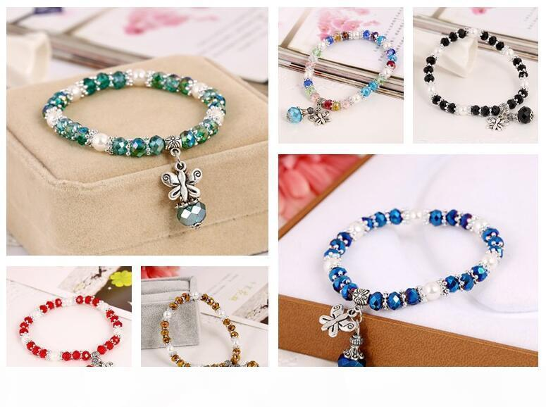 I Free Shipping Colorful Crystal Bracelet Ethnic Wind Jewelry Jewelry Fb538 Mix Order 20 Pieces A Lot Link ,Chain