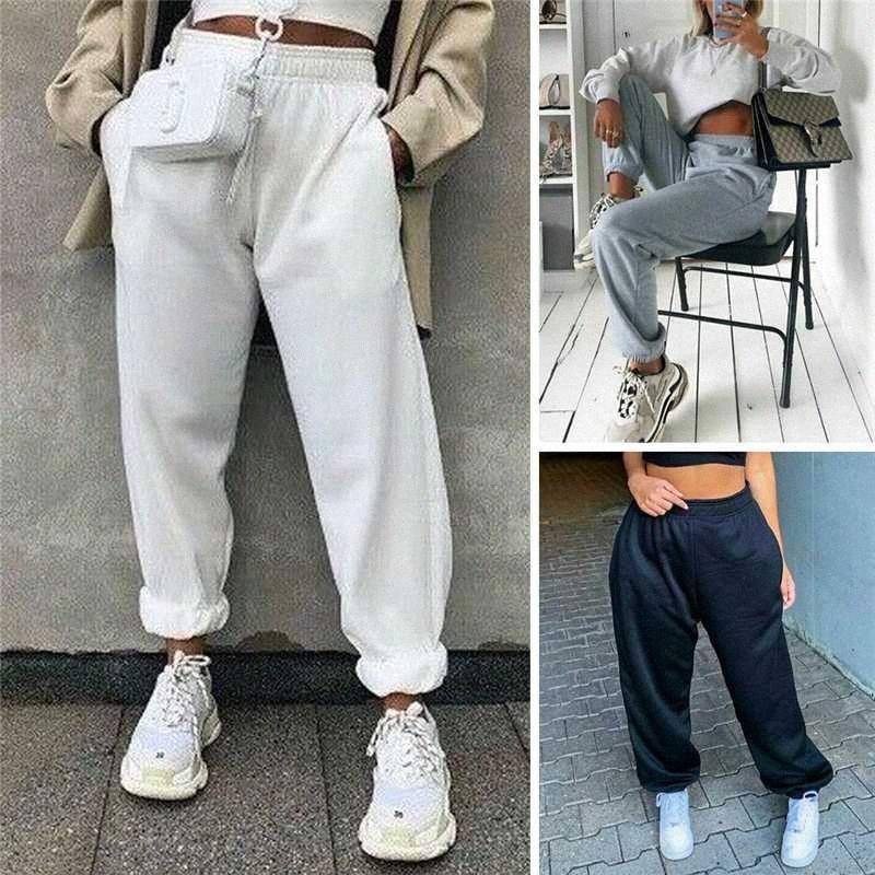 Hot Ativo Mulheres Sweatpants cintura alta esporte funcionar calças Ginásio esportes estiramento Casual Pants Senhoras Meninas longa Corredores Calças hFvY #