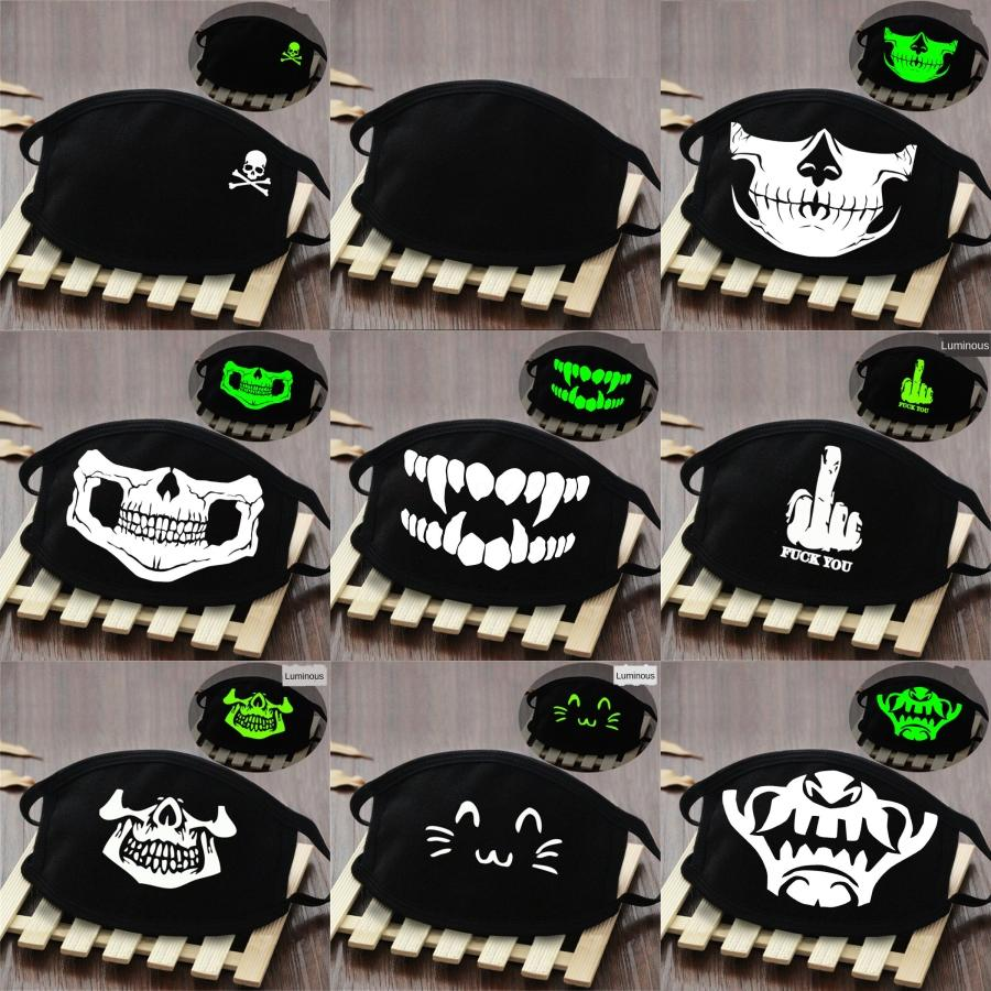 Zkgf Yüz Maske 3ply Dokuma Ağız Sac Maske Maskeler Evde Kullanım Toz Nefes Tasarımcı Baskılı Facemask Siyah Mavi # 979 # 564