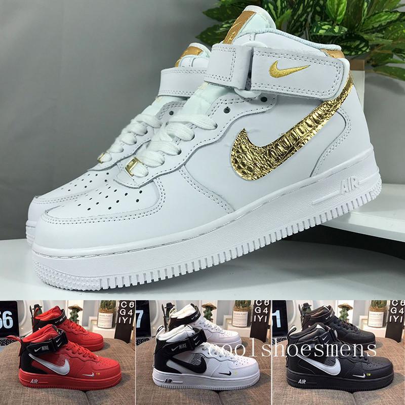 Nike air force 1 one Dunk Nouveau 1 Utilitaire classique blanc noir rouge Dunk Hommes Femmes Chaussures de course un sport de planche à roulettes haute taille basse Chau