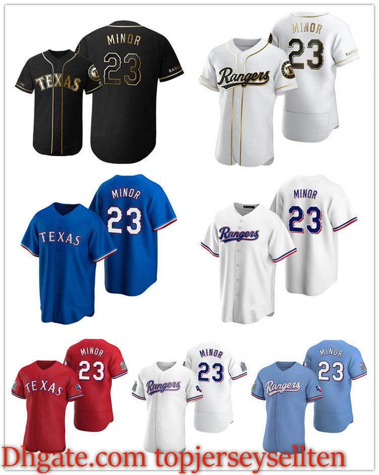 TexasRangerMänner Frauen Jugend 23 Mike Minor Scarlet Authentic 2020 Alternatives Baseball Jersey
