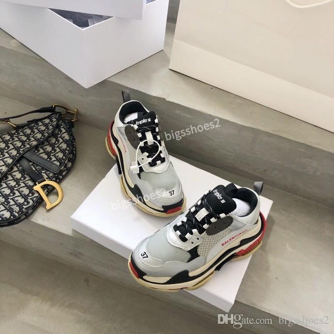 Balenciaga shoes Triple modèles S Hommes Chaussures de SneakeThick-coréen Soled Respirant Mode Sport Casual Étudiant Chaussures de course gc200510