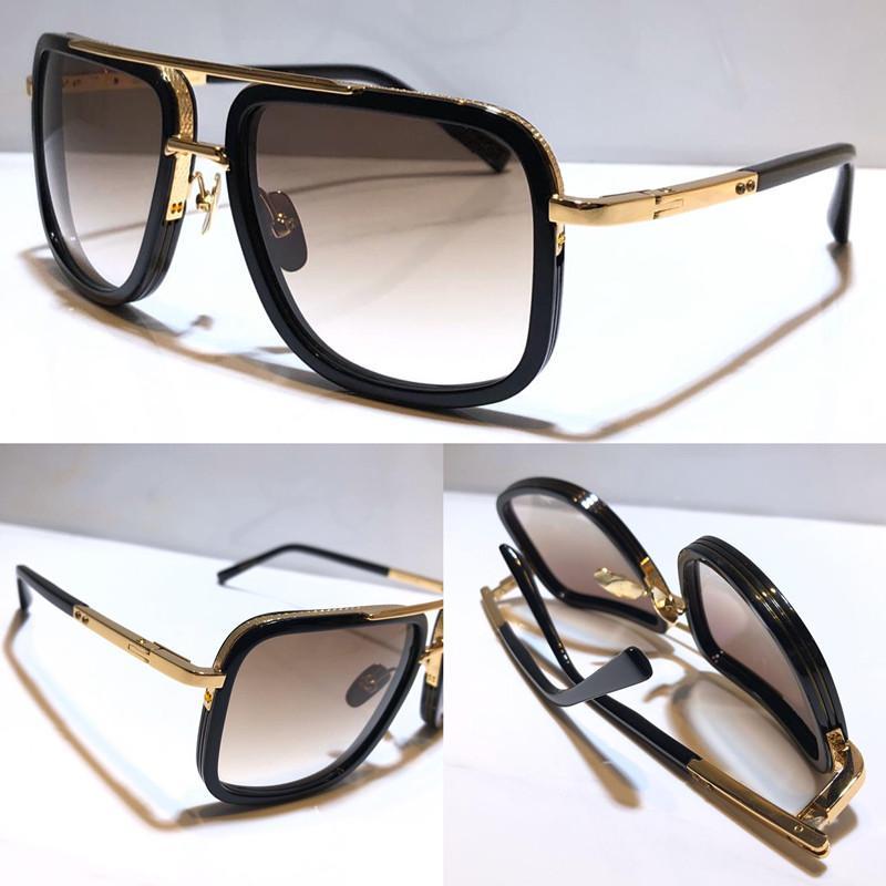 ماخ واحدة جديدة النظارات الشمسية الرجال خمر معدنية الاسلوب المناسب مربع الإطار الكامل الحماية للأشعة فوق البنفسجية في الهواء الطلق 400 عدسة النظارات مع حالة أعلى جودة