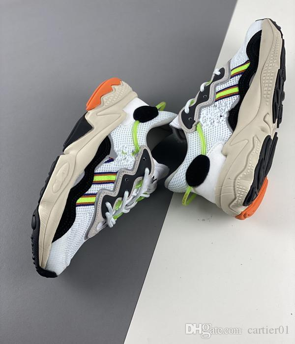 2020 Pride 3M Reflective Xeno Ozweego For Men Women Casual Shoes Neon Green Solar Yellow Halloween Tones Core Black Trainer Sports Sneakers