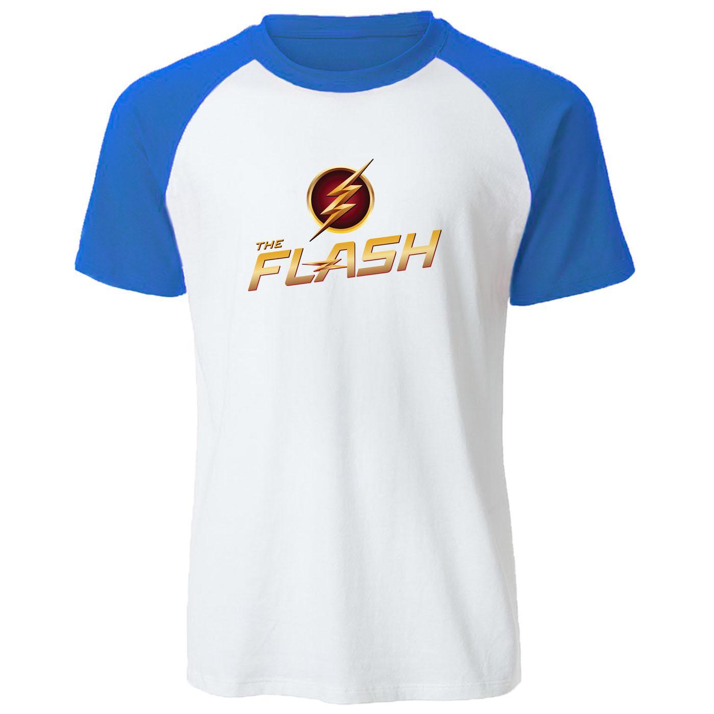 Вспышка печати Men тенниска BIG BANG Теория футболка реглан случайные майка хлопок летом Мужская одежда Superhero Топы Тис