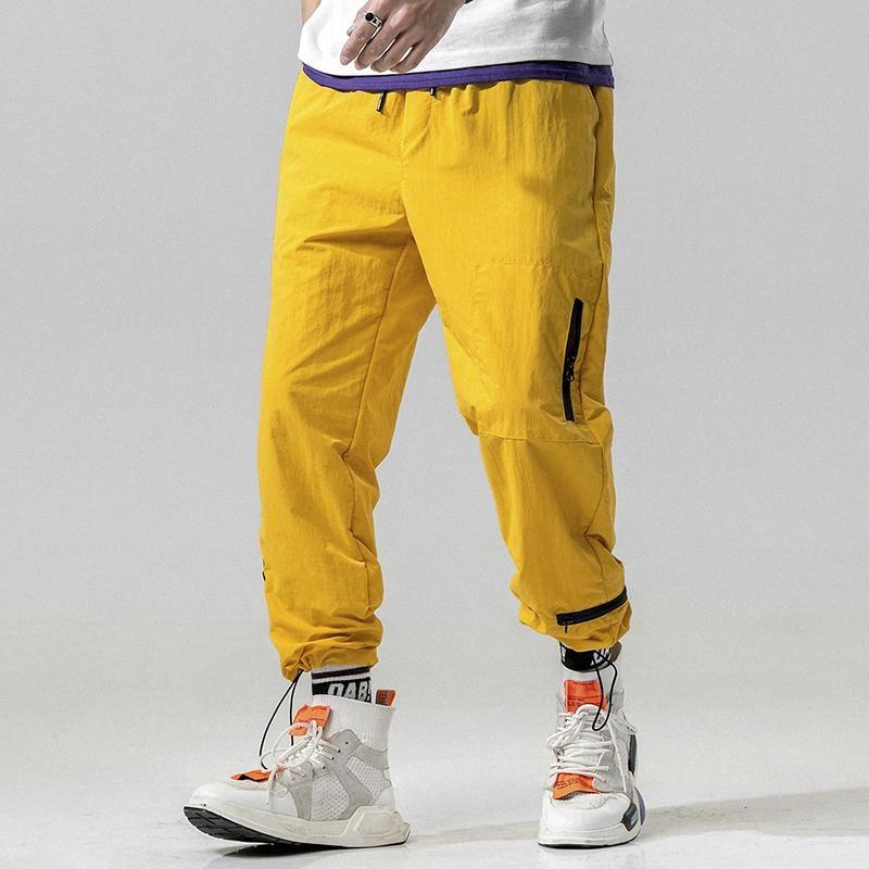 Männer Frühling-neue Hosen Fashion Trainingshose Solid Color Hosen Mal Street Trend wilder Hip Hop loser Jogger Jogginghose u9zM #