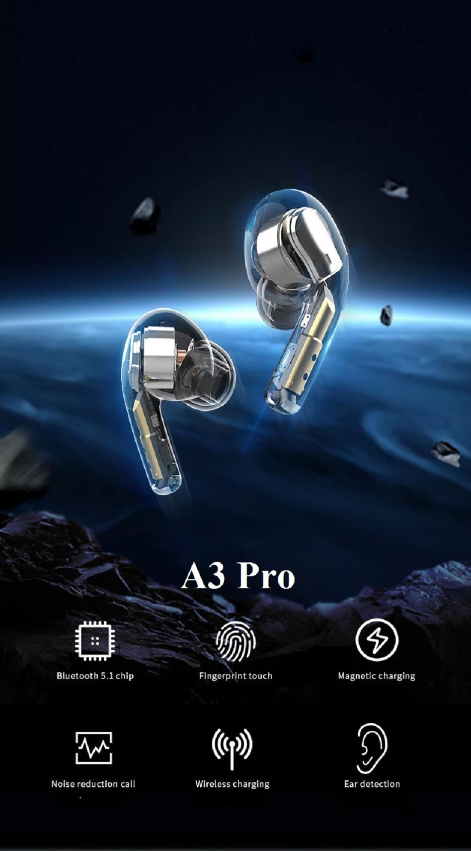 2020 New Trend A3 pro Wireless Charging Generation Pro3 Bluetooth Headphones auto paring Earphones Ear buds with pop up window Tws