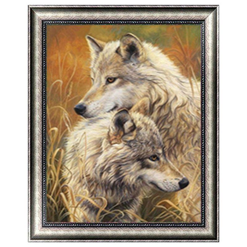 Любить друг друга собаки 5D Алмазный Круглый Rhinestone Вышивка Живопись DIY Вышивка крестом Kit Мозаика Draw Home Decor подарок
