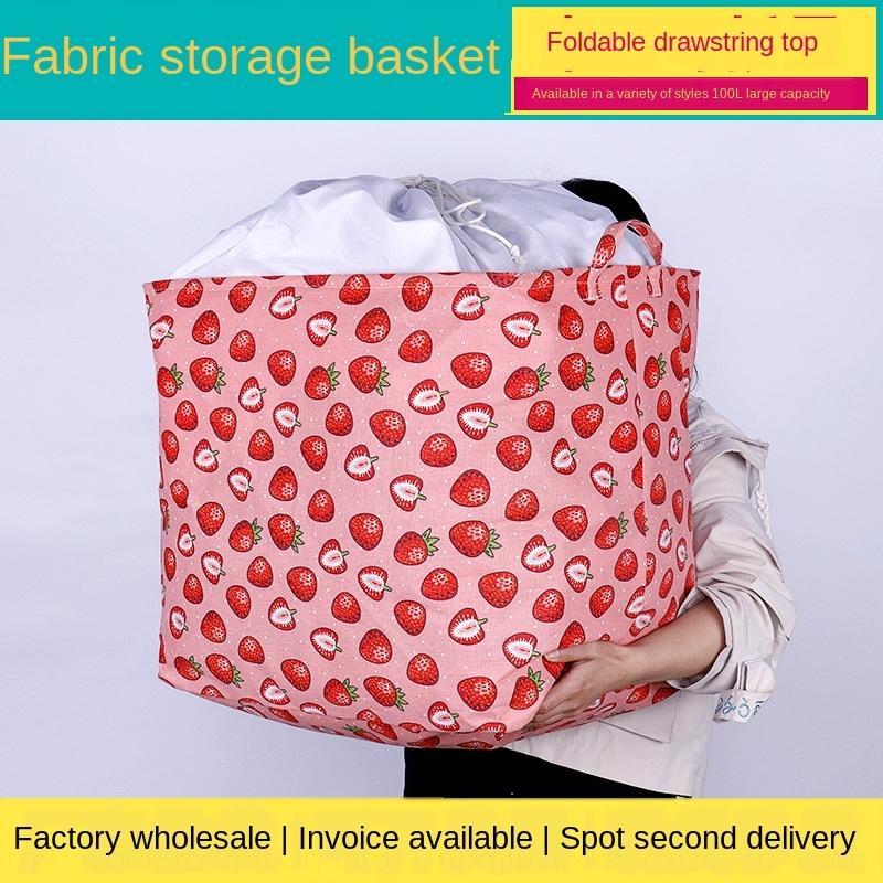 vêtements faisceau de dessin animé Pliable Toile bouche de sale panier tissu rangement étanche vêtements sales du panier