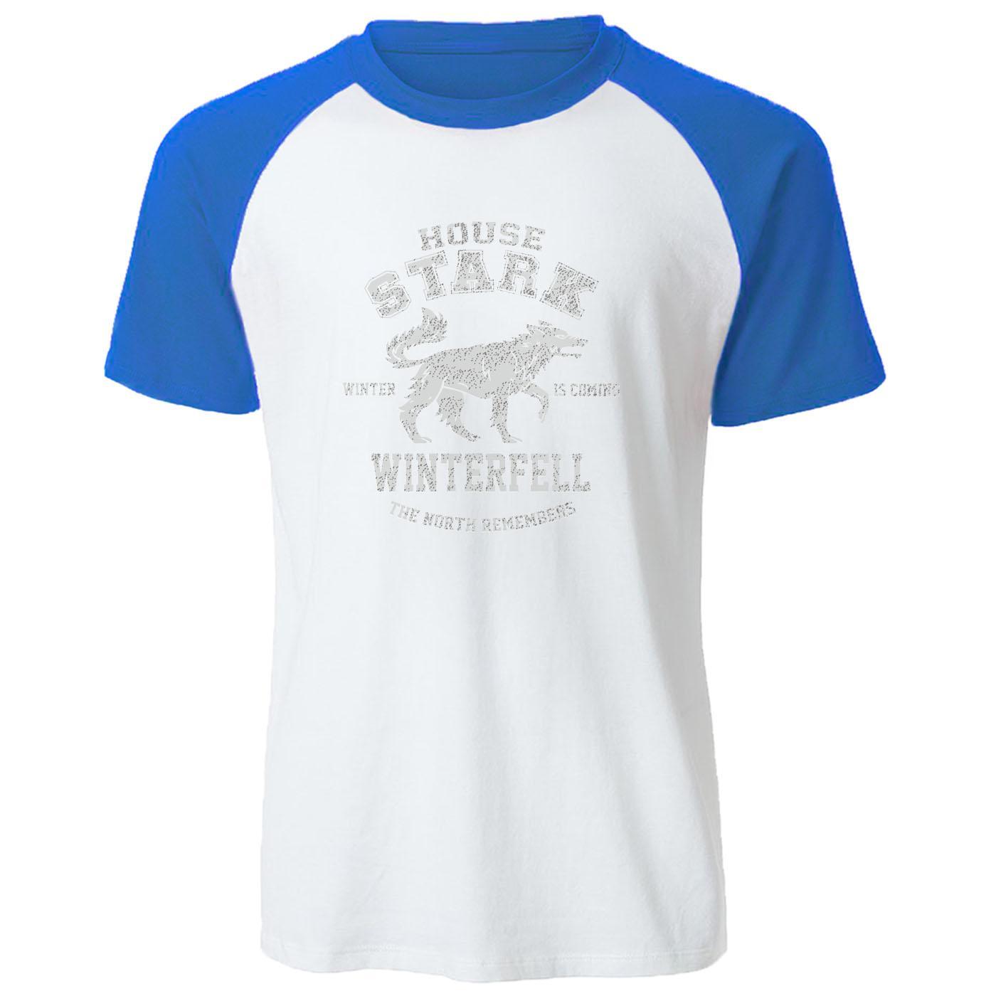Game Of Raglan T-shirt Thrones Men Cool Stark uomini della maglietta Winter is Coming Tee Shirt maschile Estate top a manica corta in cotone