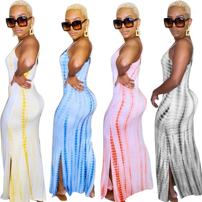 Fit Casual Robes femme Nightclub Vêtements femme Spaghetti Robe Bracelet Designer Sexy Summer Slim de Split
