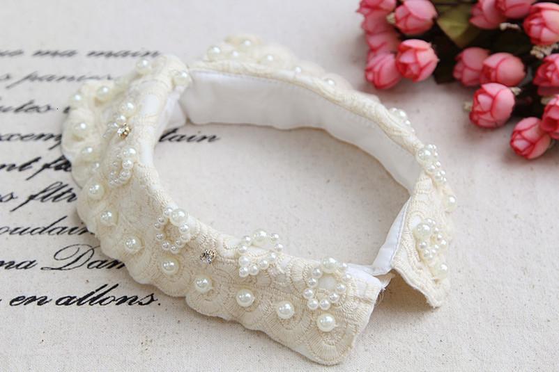 Урожай Женщины Вышитые белый хлопок съемный воротник Новый дизайн Hot! Женщины белые кружева цветок Поддельные рубашки воротник ожерелье