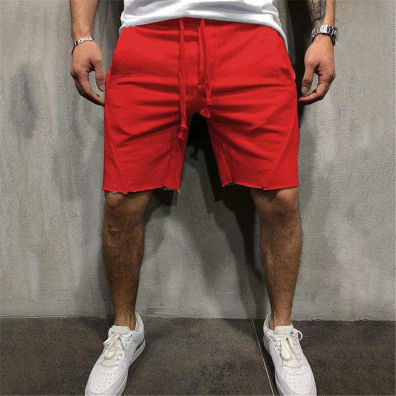 Pantalones cortos para hombre de diseño de verano para Deportes Moda color sólido pantalones cortos para hombre Casual Fuera de los pantalones cortos de los colores del tamaño S-3XL