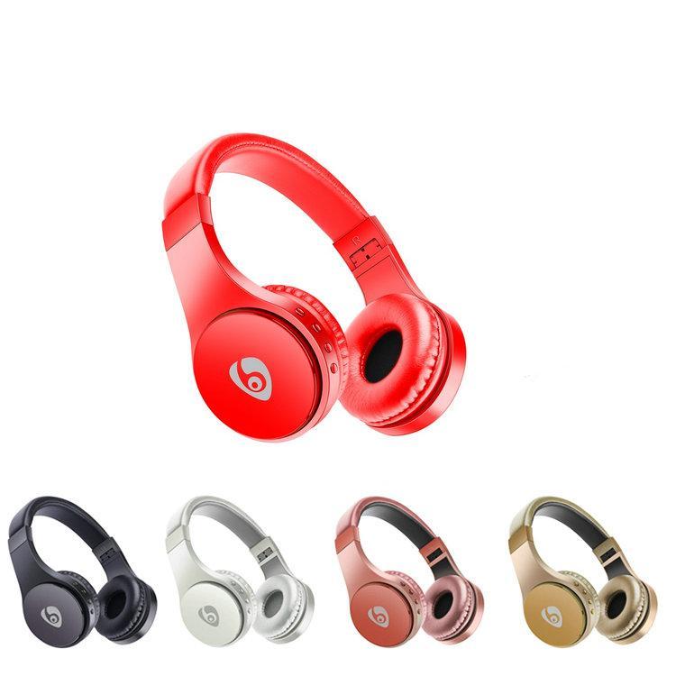 S55 uso de auriculares con la tarjeta de FM Auricular plegable montado en la cabeza de auriculares para el teléfono elegante envío libre de DHL para auriculares inalámbricos