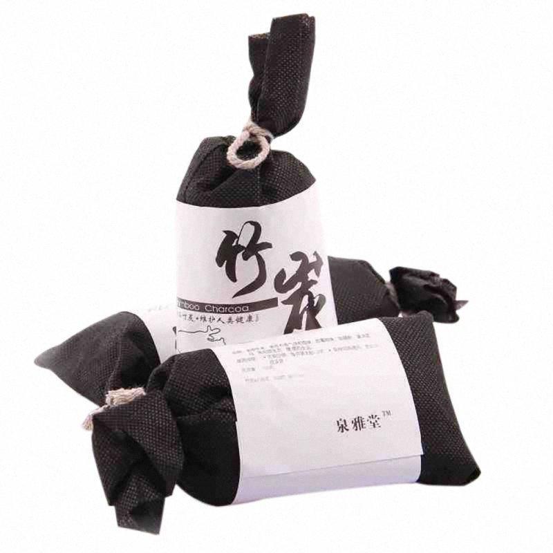 Naturales activadas de carbón de bambú Moso purificadores de aire de coche Bolsas casa cocina armario ambientador de aire absorben la humedad W48I #