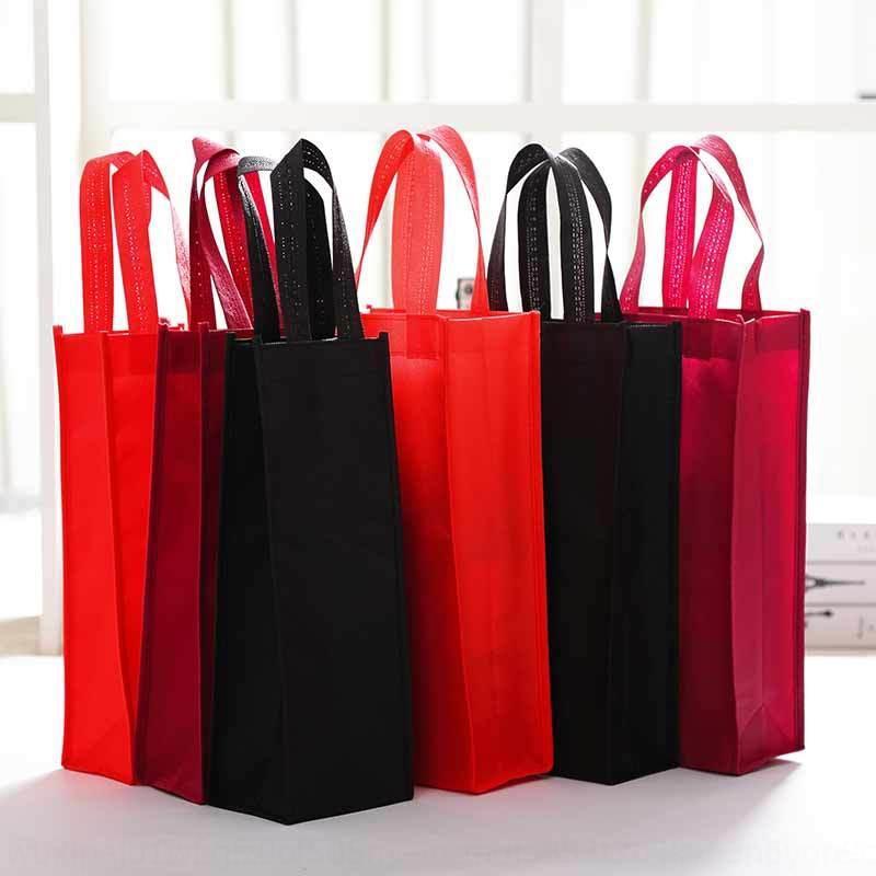 Não-tecido Embalagem de presente único tabaco vinho e saco de presente do vinho saco de embalagem vermelha
