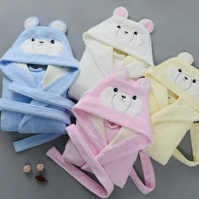 Class A pure cotton children's Towel bathrobe season cartoon towel water absorbing bathrobe for boys and girls swimming hooded