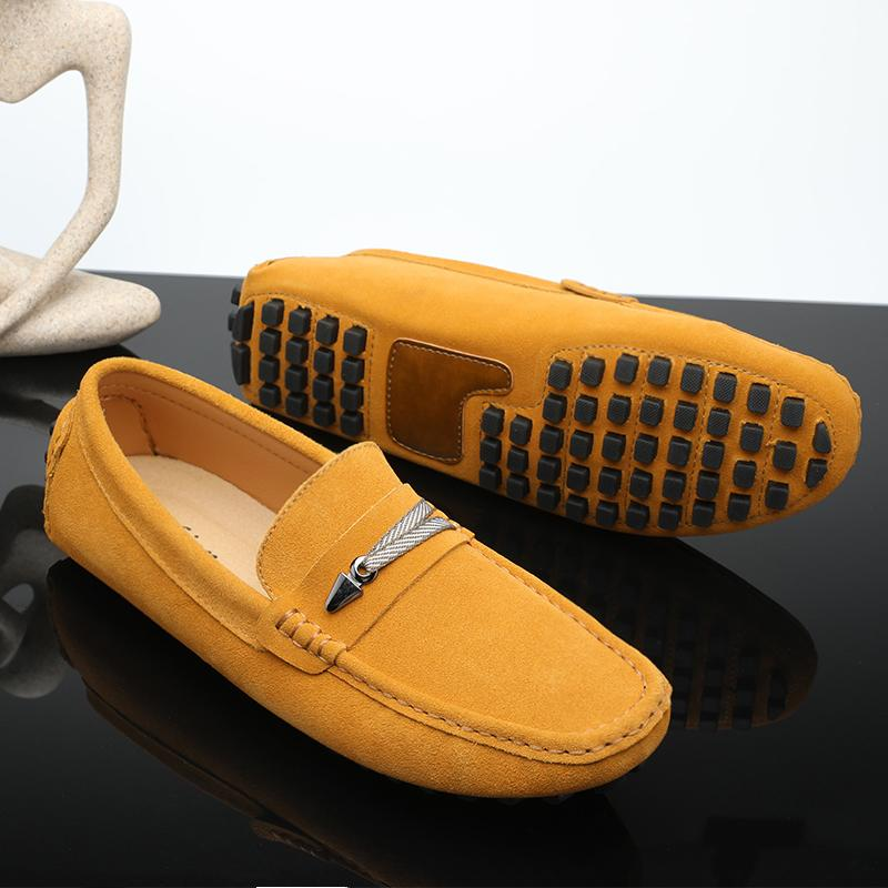 Best Selling Loafers Men Shoes Yellow