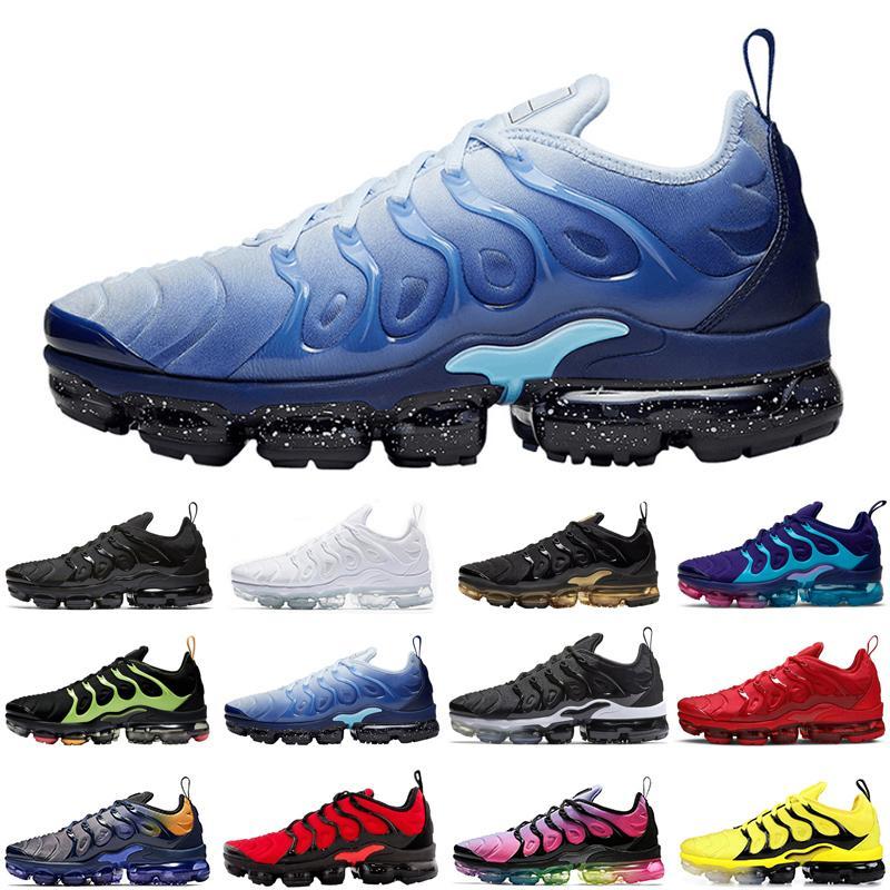 nike air vapormax tn hommes les plus récents, plus néon femmes chaussures de course noir triple être vrai hommes arc-en-womens coucher du soleil taille des coureurs de sport