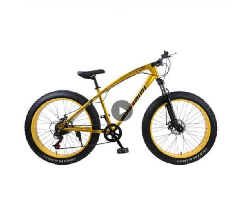 Snow beach mountain bike 24or26 inch 4.0 fat tire bicycles 24 speed high carbon steel frame double disc brake sandy mountain bicycle