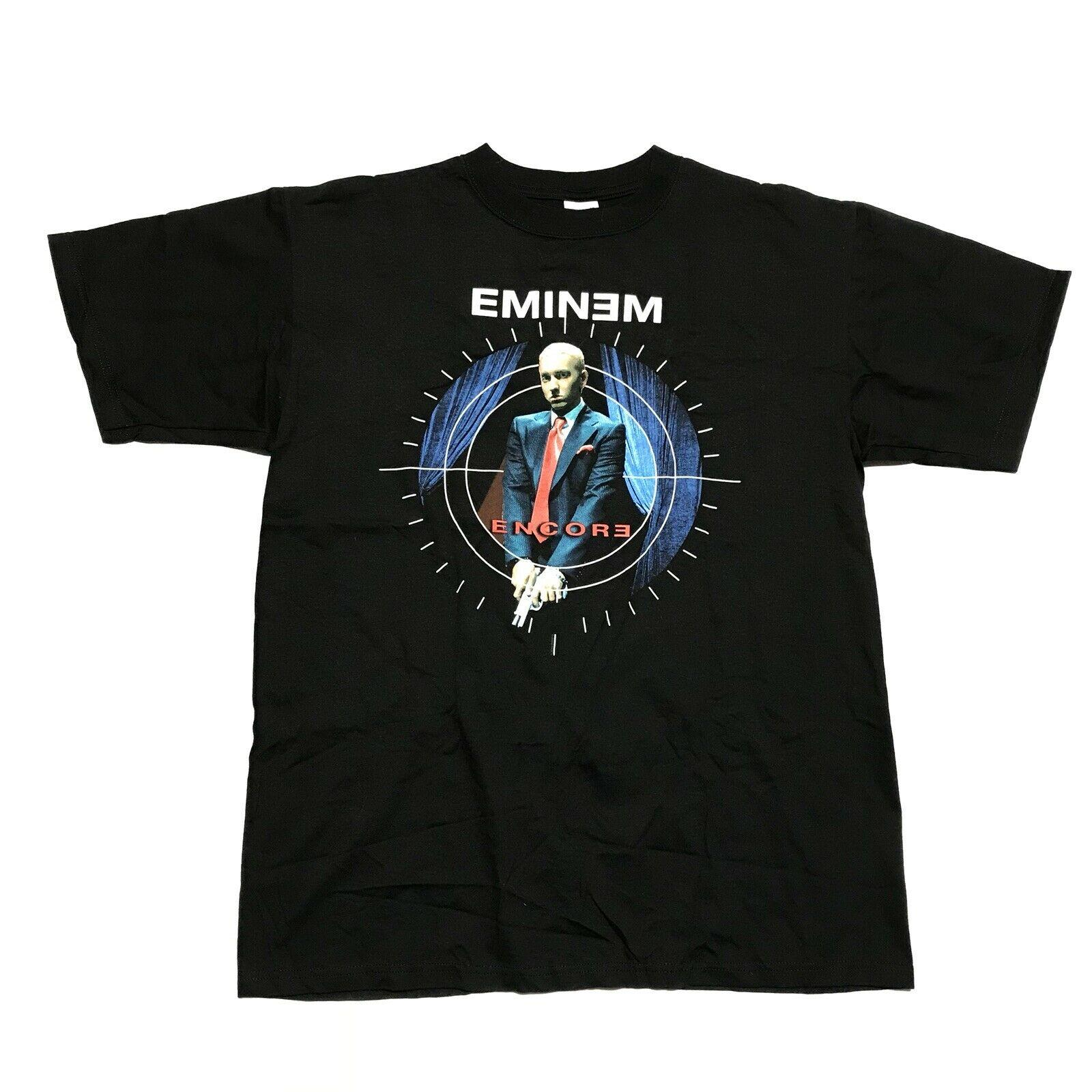Vintage Dead Vektor 2004 Eminem Encore-T-Shirt ORIGINAL Dre D12 Sz Große Rap T-Männer 100% Baumwolle Kurzarm-Druck-T-Shirt
