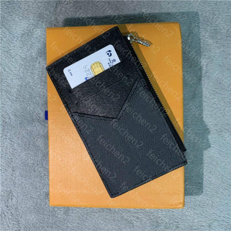 Kreditkarteninhaber Münzfach flinke Geldbörse Klassische Männer Frauen Unisex-Taschen-Fashion Mini Kleine Wallet handliche dünne Neigung mit Box 3MEP