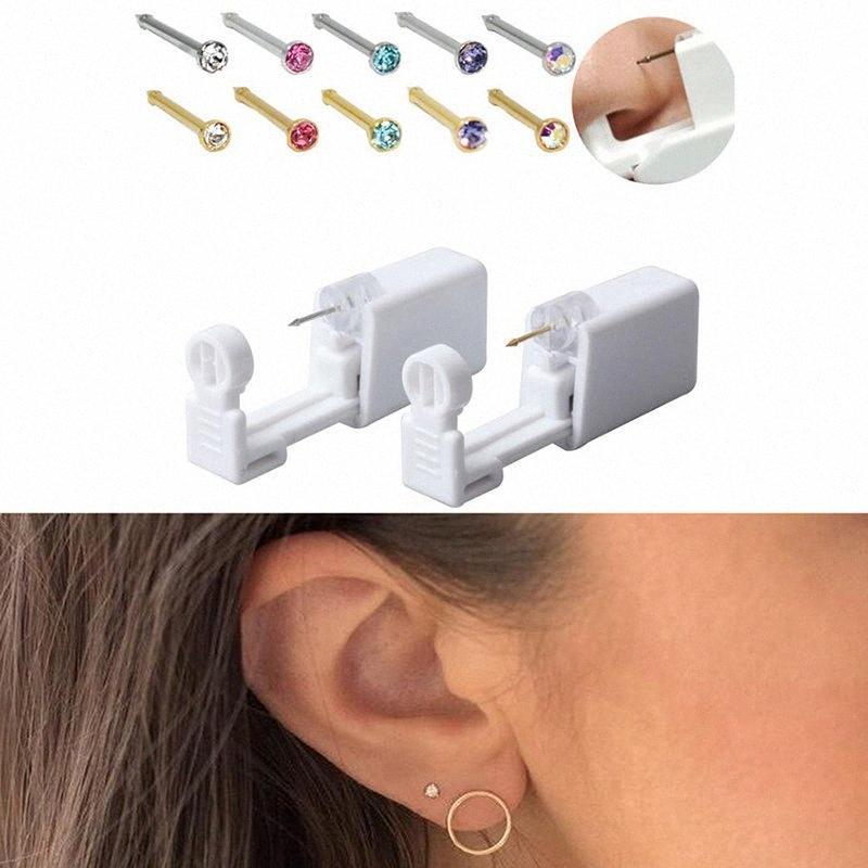 Одноразовая Нет боли Safe Стерильный стержня уха пирсинг Unit Kit Для детей носа Пронзительный Gun Jewelry ZeMw #