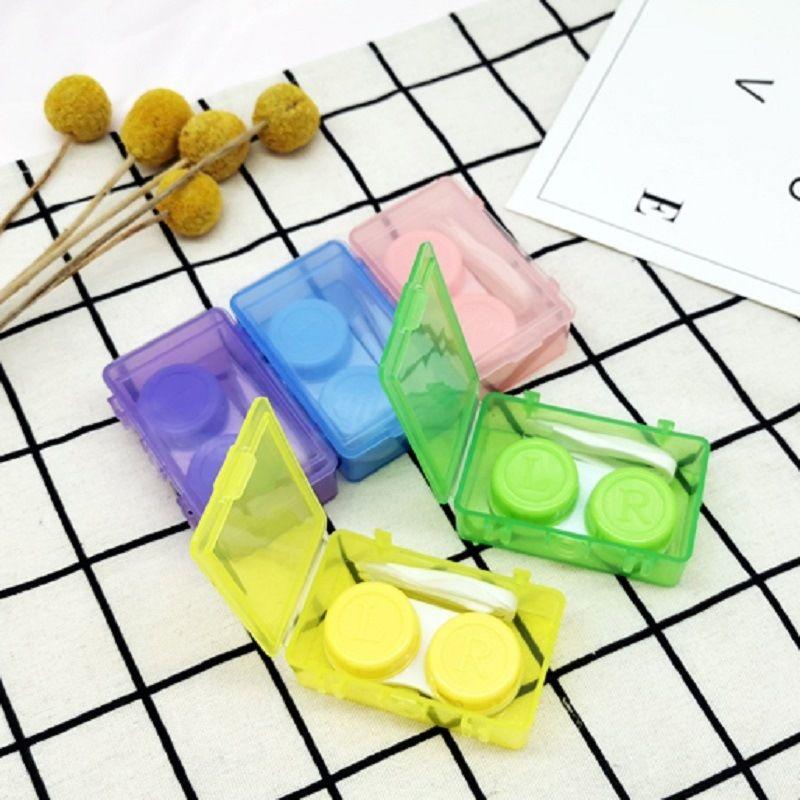 8011 basit şeker renk pp vaka vaka Diy gözlük DIY çoklu çifti Görünmez Gözlük kontakt lensler kutu tamamlayıcı kutusunu bakım Yapışık