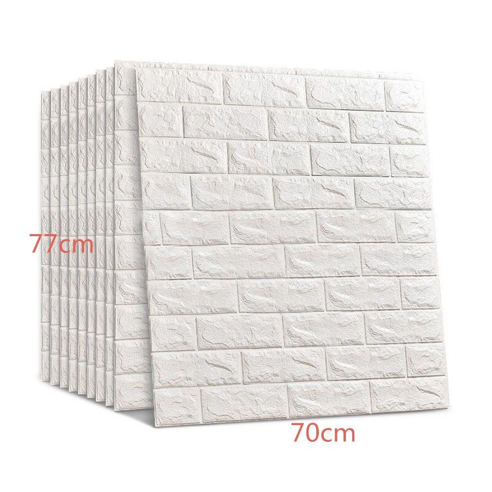 Sıcak 70 * 77cm 3D Tuğla Duvar Etiketler DIY Kendinden yapışkanlı Dekor Köpük Su geçirmez Duvar Kaplama Duvar Kağıdı İçin Tv Arkaplan Çocuk Salon