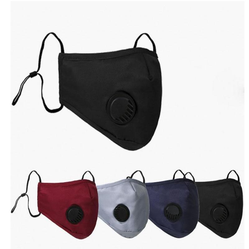 Yıkanabilir Bisiklet Anti Toz Windproof Ağız-mufla Pamuk PM2.5 Sıcak maskeler YYA255 120pcs tutun Valve ile Ağız Maske Maskesi
