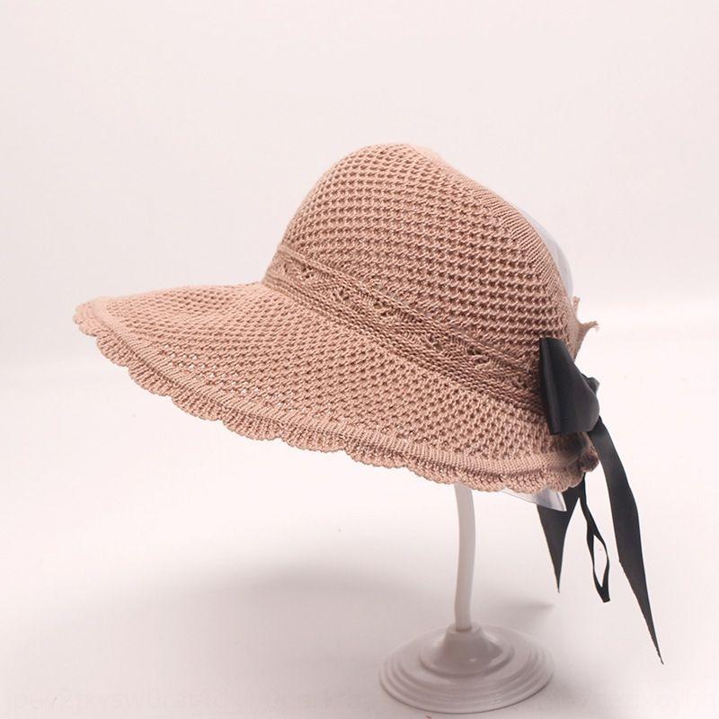 In stile coreano spiaggia freddo ghiaccio sole UV di protezione solare di seta del cappello di estate viaggio per bambini tutto-fiammifero vuoto cappello a cilindro fresco 0I7mZ