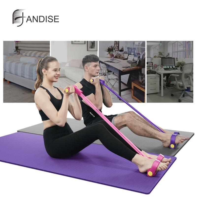 Fitness Resistance Band Exercise Equipment Elastic Sit Up Pedal Puller Rope NEW