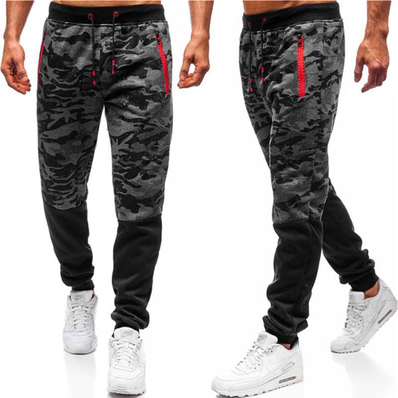 Мужские брюки 2020 Новая мода Mens Европы и Америки Стиль Тонкого Камуфляж печати Брюки Мужчина Повседневные Активные Брюки 3 цвета Размер M-3XL