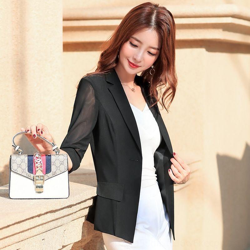 jBkDj 2020 kurze neue früh sieben Viertel kleiner Anzug schlank professionellen Mantel fit Frauen Kurzmantel Allgleiches Frühling OL Hülsenklage