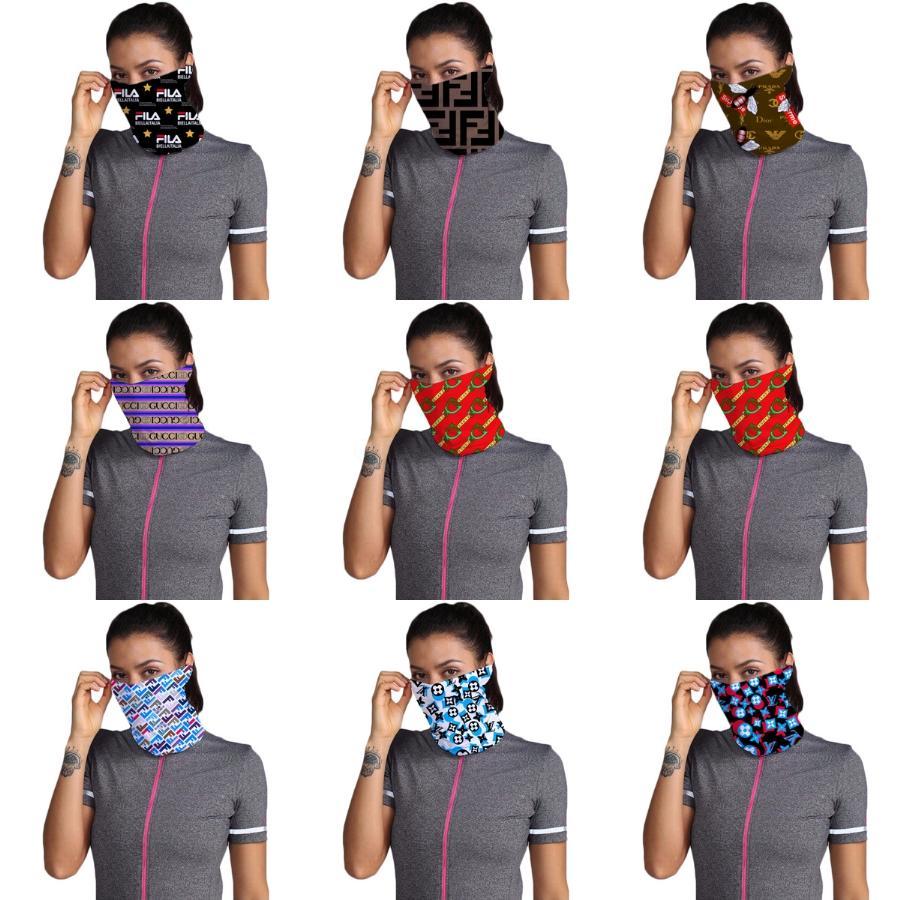 I7SCd Femmes Foulard Masque coupe-vent 38 Styles coton visage Mouchoir extérieur en mousseline de soie demi-visage antipoussière DESIGNER Masques Sc # 694 Sunshade
