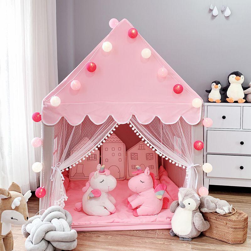 Childrens Tenda Gioco da Interni Casa principessa della tenda della casa del giocattolo Ragazze Piccola Casa Castello Artefatto Bed
