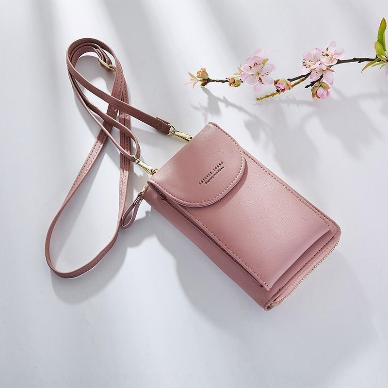 DxC01 2020 weibliche Schüler Mobil koreanisches Telefon bagPouch Telefon bagstyle Mode mit großer Kapazität Umhängetasche Normallack Frauen-Täschchen