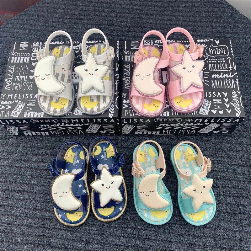 Mini Melissa Mar Sandália Sweet Dreams menina geléia das sandálias 2020 sapatas de bebê da estrela Lua Melissa Sandals crianças não escorregar Princesa oDYw #