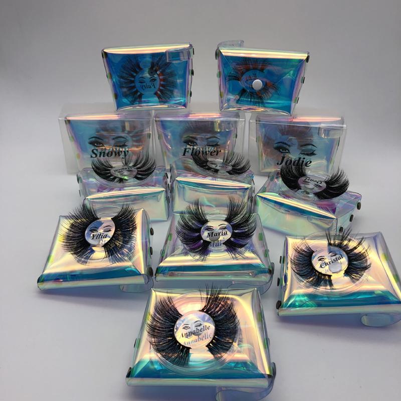 NEW 25mm falsche Wimpern 3D Wimpern dicker Streifen Crossing Wimpernverlängerung Makeup Dramatische Lange Mink Wimpern