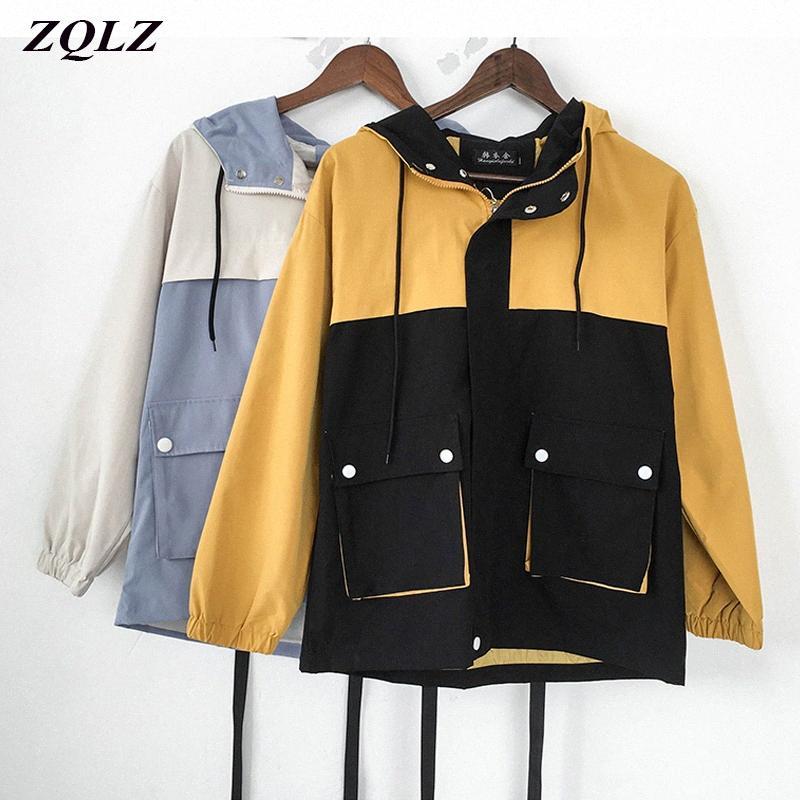 ZQLZ Veste Hiver 2020 Femmes Nouveau Casual capuche en coton Parka Mujer en vrac Manteau Femme Automne Mode Manteaux d'hiver Femmes hY5F #
