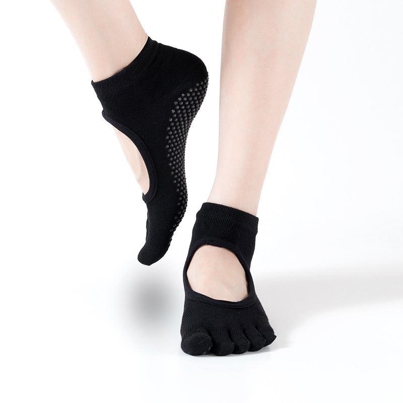 New Women Yoga Toeless Warm Socks Five Fingers Non Slip