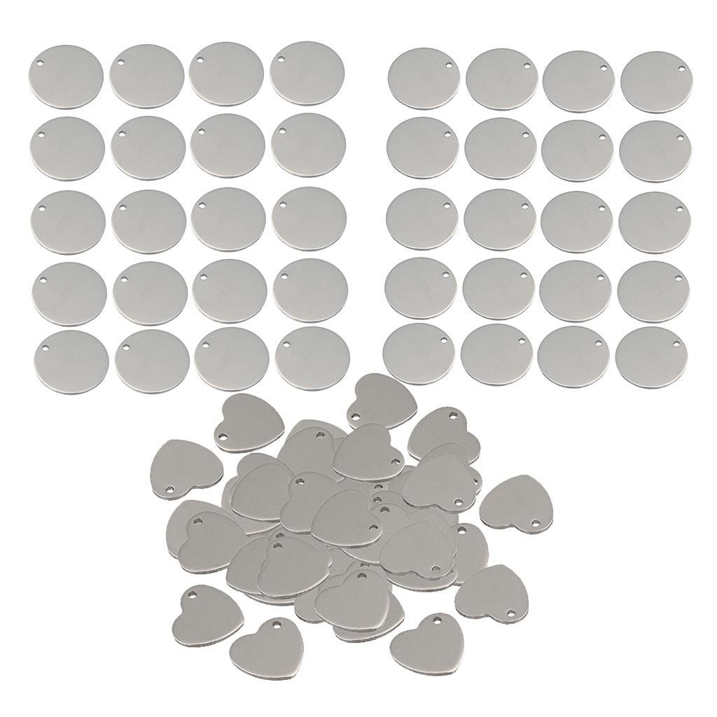 90x Metal Flat Cuore sviluppo circolare Stampaggio fascini Tag pendenti di fabbricazione dei monili