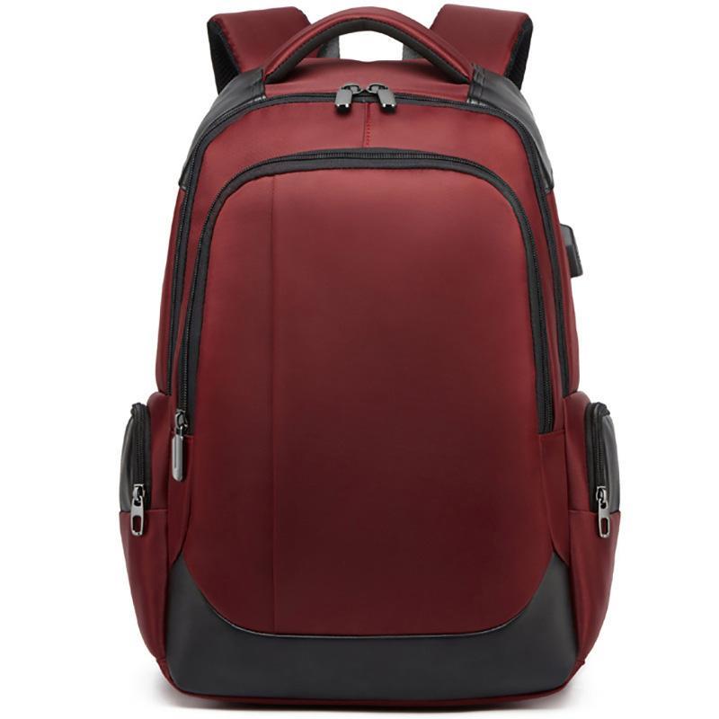 حقيبة سفر حقيبة كمبيوتر محمول حقيبة 15.6 بوصة الرجال USB شحن حقائب الظهر للشباب المدرسية الشباب حقيبة النساء الساخنة WJJ