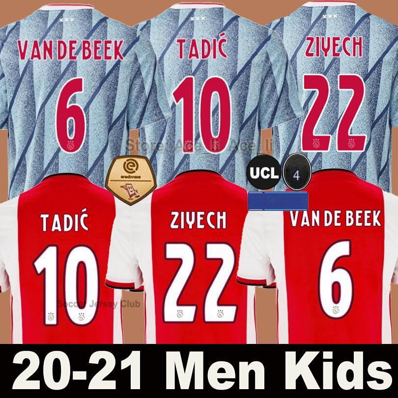 20 21 Ajax-wegfußball Jersey PROMES ALVAREZ Ajax 2020 2021 camiseta de futbo VAN DE BEEK TADIC ZIYECH FUSSBALL SHIRT MEN Kindeinstellt Uniform